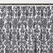 Sin in Linen Cotton Wallflower Shower Curtain