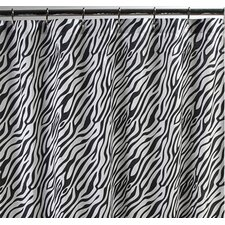 Dreamy Linens Cotton Zebra Shower Curtain