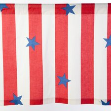 Stars and Stripes Cotton Curtain Valance