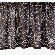 Spider Web Cotton Rod Pocker Ruffled Curtain Valance