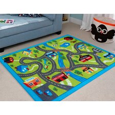 Kids Country Town Rug in Multi