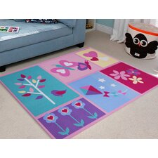 Kids Flower Kite Rug in Multi