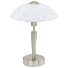 Solo Amadora Pattern Touch 1 Light Table Lamp in Nickel Matt