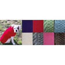 Grey Cable Dog Sweater
