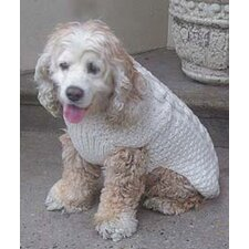 <strong>Chilly Dog</strong> Natural Cable Dog Sweater