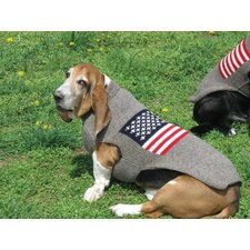 <strong>Chilly Dog</strong> American Flag Dog Sweater
