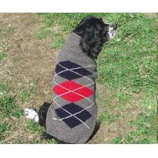 Grey Classic Argyle Dog Sweater
