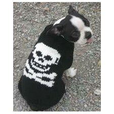 <strong>Chilly Dog</strong> Black Skull Dog Sweater