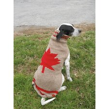 Maple Leaf Dog Sweater