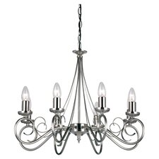 8 Light Swirl Chandelier