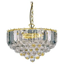 3 Light Large Crystal Chandelier