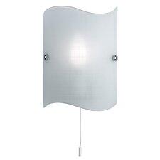 Wavy 1 Light Flush Wall Light