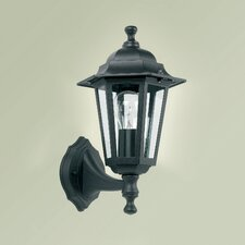 Uplight Wall Lantern in Black