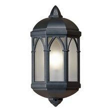 Flush Wall Lantern in Black