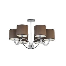 6 Light Ceiling Semi-Flush Mount in Chrome