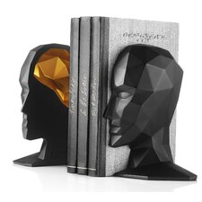 Knowledge in the Brain Book End (Set of 2)