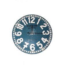 121Cm Wooden Clock in Blue