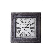 86Cm Square Wall Clock in Grey