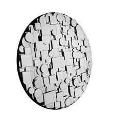Round Patchwork Mirror in Clear