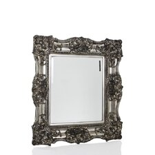 Ornamental Mirror in Antique Silver