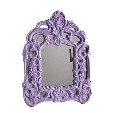 50 cm x 70 cm Baroque Mirror in Lilac Gloss