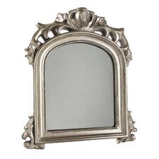 51 cm Baroque Curved Mirror in Antique Silver