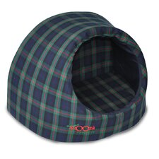 Pet Igloo - Blue/Green Tartan