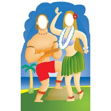 <strong>Advanced Graphics</strong> Hawaiian Couple Stand-In Life-Size Cardboard Stand-Up