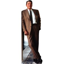 President Ronald Reagan in Brown Suit Life-Size Cardboard Stand-Up