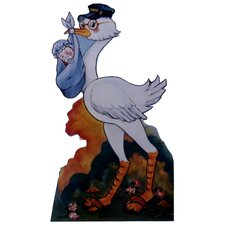 Cartoons Stork with Baby Boy Wall Decal