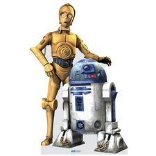 C3PO - R2D2 Clone Trooper Cardboard Stand-Up