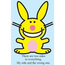 Happy Bunny - Two Sides Cardboard Stand-Up