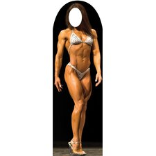 Muscle Woman Stand-In Cardboard Stand-Up