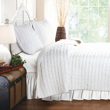 Ruffled 3 Piece Quilt Set