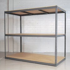 "Rivet Wedge-Lock Bulk 84"" H 2 Shelf Shelving Unit Starter"