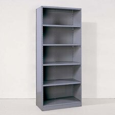 Industrial Clip Closed Shelving: Angle Post Units with 6 Shelves; Starter Unit