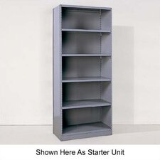 <strong>Republic</strong> Industrial Clip Closed Shelving: Beaded Post Units with 6 Shelves; Adder Unit