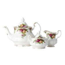 Old Country Roses Tableware Teapot / Sugar / Creamer Set