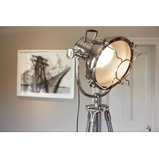 Art Deco Theatre Floor Lamp in Chrome