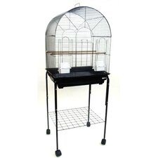 Round Top Small Bird Cage with Stand