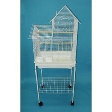 Villa Top Small Bird Cage with Stand and 2 Feeder Doors