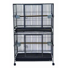 Flat Top Double Bird Cage