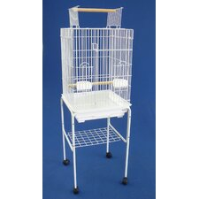Open Top Small Parrot Bird Cage with Stand