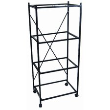 Four Shelf Stand for Small Bird Breeding Cages