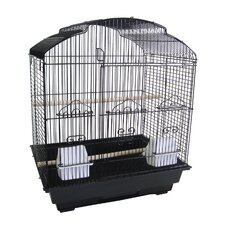 "3/8"" Bar Spacing Shell Top Small Bird Cage"