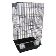 "3/8"" Bar Spacing Tall Square Top Bird Cage"