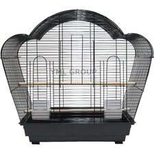"1/2"" Bar Spacing Shell Top Small Bird Cage"