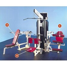<strong>Quantum Fitness</strong> Q-400 Series Multi-Station Commercial 3 Stack Home Gym Set
