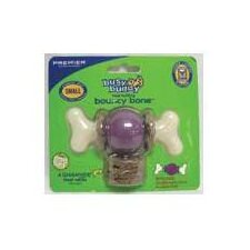 Bouncy Bone Dog Toy in Purple
