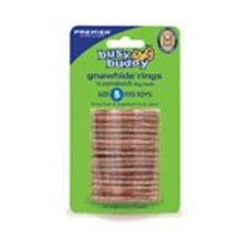 Busy Buddy Gnaw Hide Rings Cornstarch Dog Treat